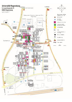 Campusplan Regensburg
